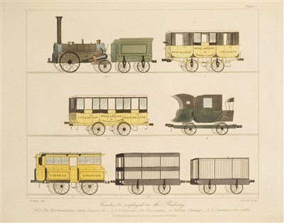 Lot 368 - Bury (Thomas Talbot). Six Coloured Views on the Liverpool and Manchester Railway, 1831