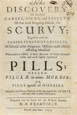 Lot 62-Bromfield (M.). A Brief Discovery of the Chief Causes..., 1679