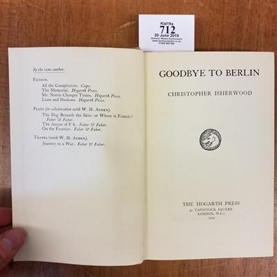 Lot 712-Isherwood (Christopher). Goodbye to Berlin, 1st edition, 1939