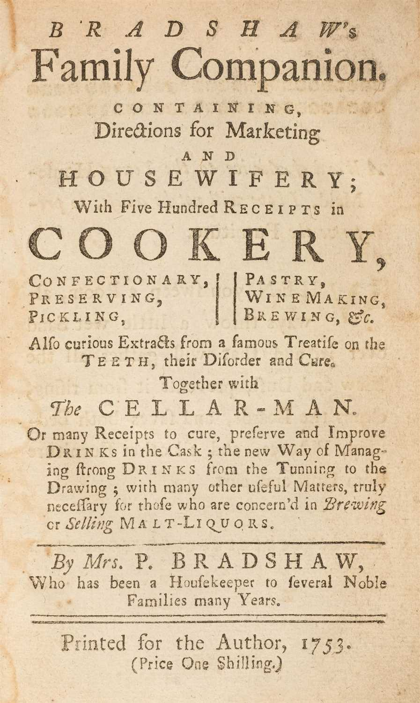 Lot 211 - Bradshaw (Penelope). Bradshaw's Family Companion, 1753