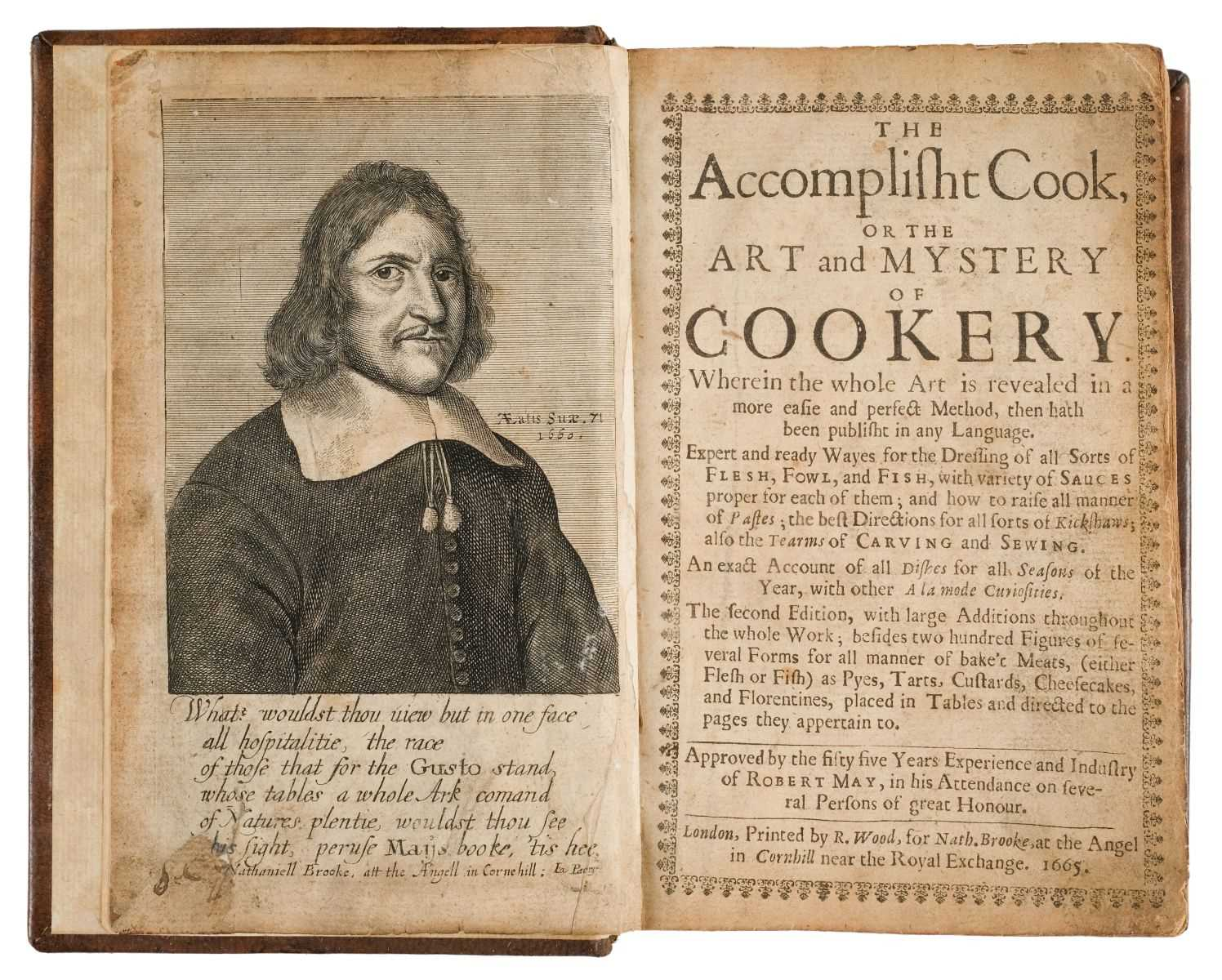 Lot 33-May (Robert). The Accomplisht Cook, or The Art and Mystery of Cookery, 1665
