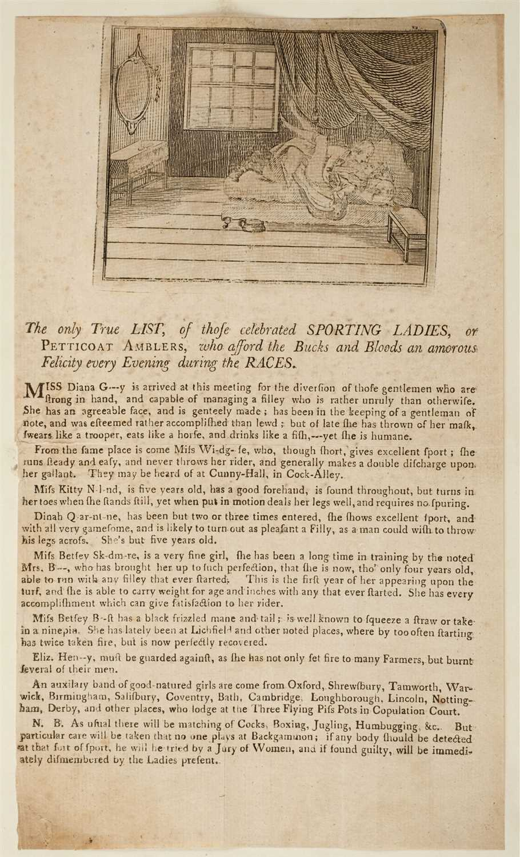 Lot 203-Prostitution Broadsides, circa 1780