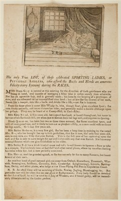 Lot 203-Prostitution Broadsides, circa 1780