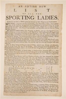 Lot 203 - Prostitution Broadsides, circa 1780