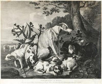 Lot 405 - Lerperniere (Daniel, 1745-1835). Portrait of Dogs, circa 1780