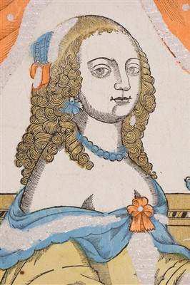 Lot 399-Five Senses. Tasting, Feeling, Hearing, Smeling & Seeing, circa 1670