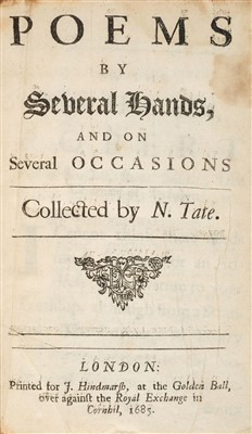 Lot 76-Tate (Nahum, editor). Poems by Several Hands, 1685