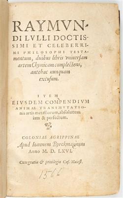 Lot 4-Pseudo-Lull. Testamentum, 1566