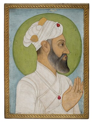 Lot 401-Mughal School. Portrait of Aurangzeb, circa 1700