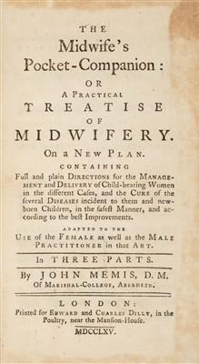 Lot 244 - Memis (John). The Midwife's Pocket-Companion, 1765