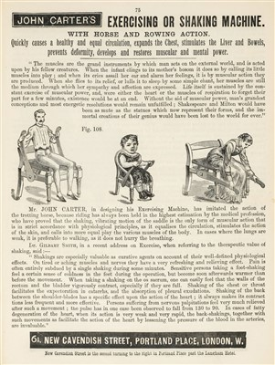 Lot 389 - Trade Catalogue. John Carter's Illustrated Catalogue of Invalid Furniture and Bath Chairs, 1889