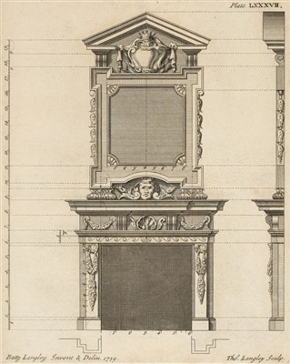 Lot 200 - Langley (Batty). The City and Country Builder's and Workman's Treasury of Designs, 1750