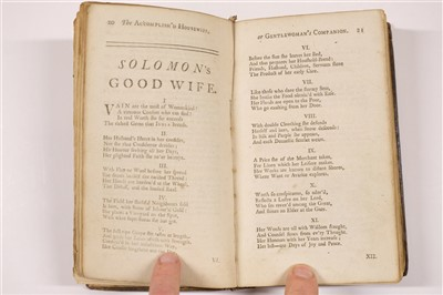 Lot 193 - Accomplish'd Housewife; or, the Gentlewoman's Companion, 1745