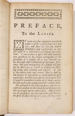 Lot 220 - Phillips (Sarah). The Ladies Handmaid: or, a Complete System of Cookery, 1758