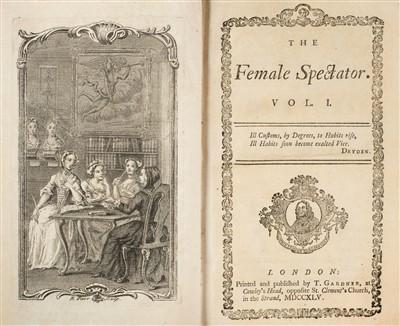 Lot 191 - Haywood (Eliza). The Female Spectator, 4 volumes, 1st edition, 1744-6