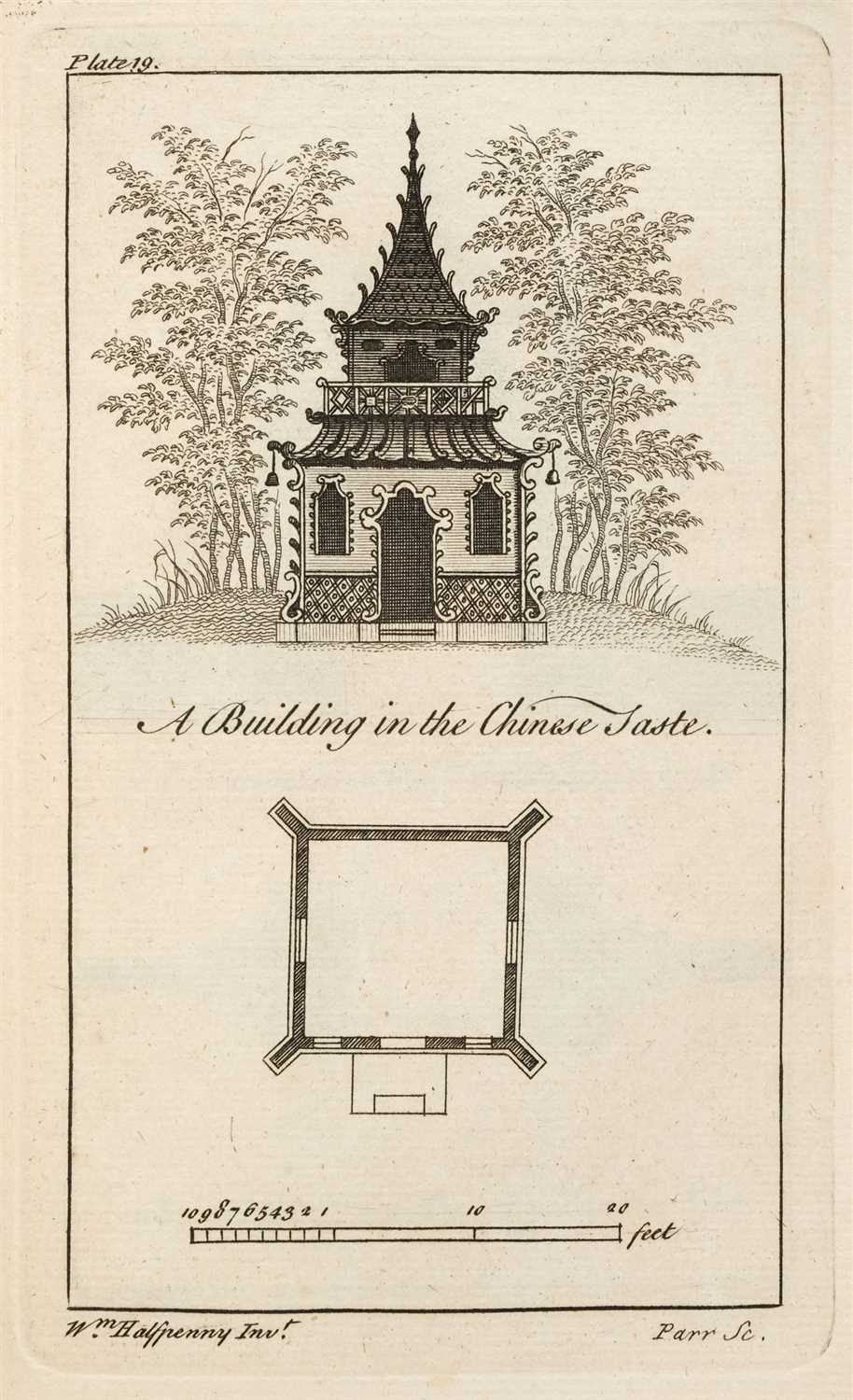 Lot 205-Halfpenny (William). New Designs for Farm-Houses [&] Rural Architecture in the Chinese Taste, 1751-2