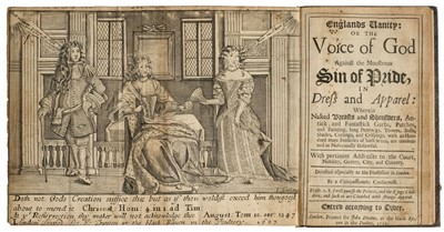 Lot 69-Englands Vanity: or the Voice of God Against the Monstrous Sin of Pride, in Dress and Apparel, 1683