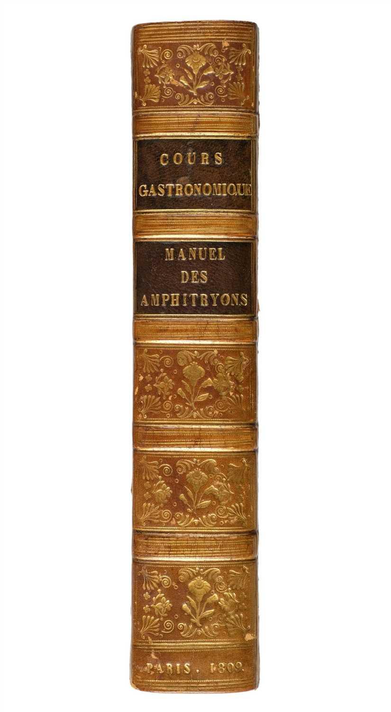 Lot 344 - Cadet de Gassicourt (Charles L.). Cours gastronomique, ou les diners de Manant-ville, Paris, 1809