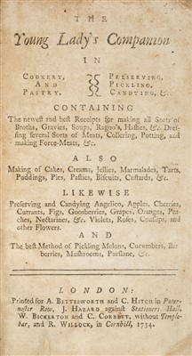 Lot 168 - Young Lady's Companion, 1734