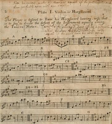Lot 155 - De La Fond (John Francis). A New System of Music, 1st edition, 1725