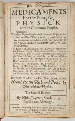 Lot 30-Prévost (Jean). Medicaments For the Poor, 1662