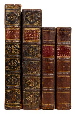 Lot 146 - Poetical miscellany. The Grove; or a Collection of Original Poems, 1st edition, 1721
