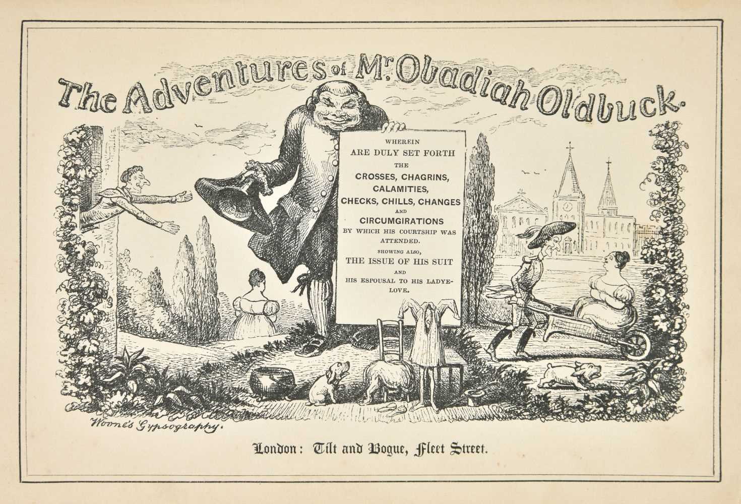 Lot 511-Topffer (Rodolphe). The Adventures of Mr Obadiah Oldbuck, 1st English edition, [1841]