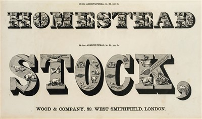 Lot 382-Type Specimen. Specimens of Ornamental and Colored Wood Letters, circa 1860
