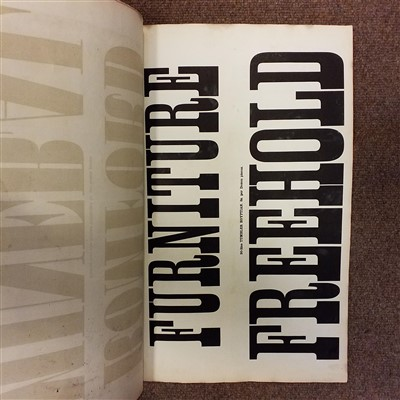 Lot 382 - Type Specimen. Specimens of Ornamental and Colored Wood Letters, circa 1860