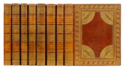 Lot 281 - Grose (Francis). Antiquities of England Wales, contemporary russia gilt, 1784-7