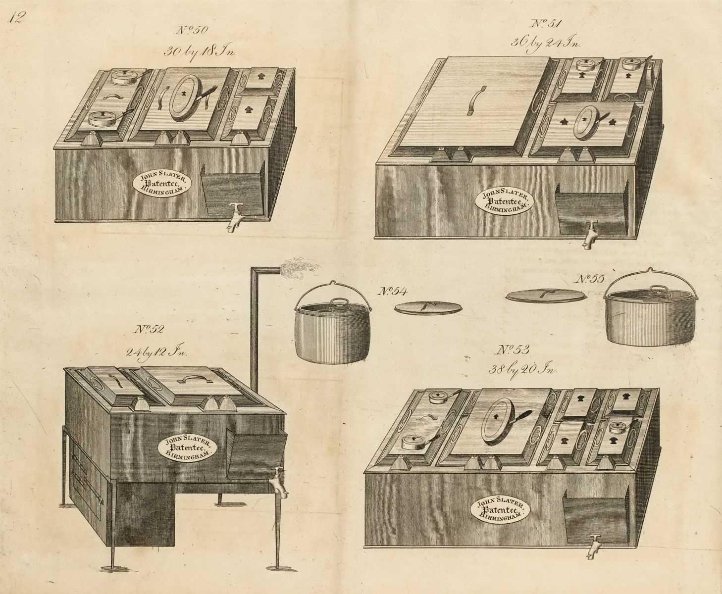 Lot 356 - Trade Catalogue. John Slater, Coach Spring & Patent Steam Kitchen Manufacturer, circa 1819