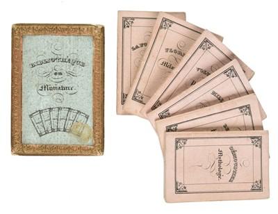 Lot 503-Miniature books. Bibliothèque en Miniature, circa 1835