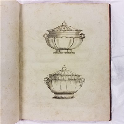 Lot 315 - Leeds Pottery Pattern Book. Designs of Sundry Articles, 1794