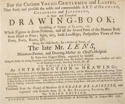 Lot 206 - Lens (Bernard, & Gerrard de Lairesse). For the Curious Young Gentlemen and Ladies, 1752