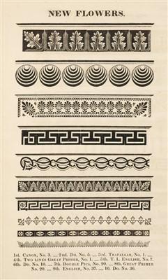 Lot 355 - Type Specimen. A Specimen of Printing Types, &c. by Blake, Garnett, and Co., circa 1819