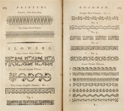 Lot 288 - Smith (John). The Printer's Grammar, 1787