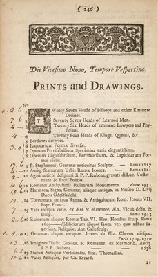 Lot 160 - Auction Catalogue. A Catalogue of the Library, Antiquities, &c. of ... Dr. Woodward, 1728