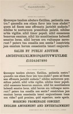 Lot 379 - Type Specimen. Fann Street Letter Foundry, circa 1848