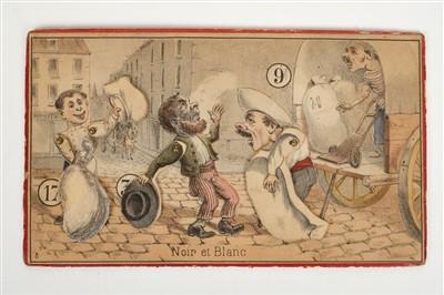 Lot 513-Comic Girl. Amusement with a Swinging Pendulum Figure..., 1850s
