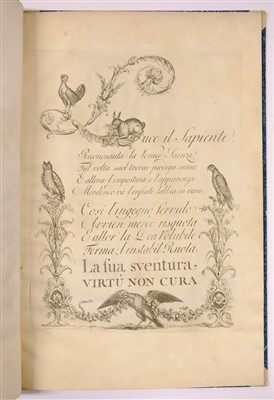 Lot 325 - Giarre (Gaetano). Alfabeto di lettere iniziali..., 1797