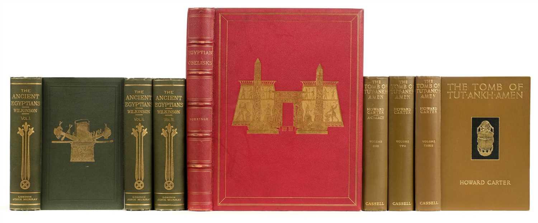 Lot 16-Gorringe (Henry H.). Egyptian Obelisks, 1st edition, 1882, deluxe binding, [and other Egyptology]