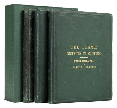 Lot 3-Great Britain. Sedgfield (William Russell). The Thames Illustrated by Photographs, 1866-8