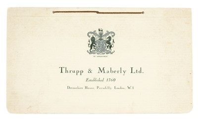 Lot 33-Rolls-Royce. Thrupp & Maberly Ltd coachwork brochure for Rolls-Royce, circa 1936-1938