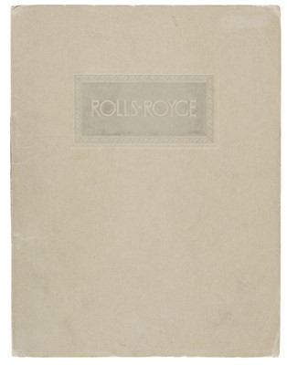 Lot 25-Rolls-Royce.  A Rolls-Royce sales brochure for the New Phantom, circa 1927