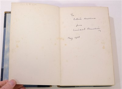 Lot 8-Churchill (Winston S.) My Early Life, 1937 reprint, inscribed