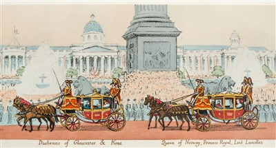 Lot 520-Panorama. Panorama of the Coronation Procession of Their Majesties, 12th May 1937