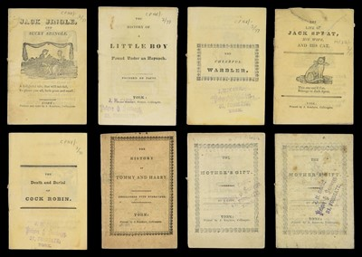 Lot 484-Chapbooks. A collection of eight chapbooks, York: James Kendrew, circa 1820