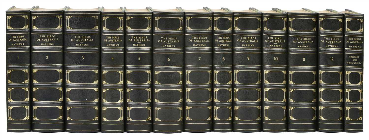 90 - Mathews (Gregory M.). The Birds of Australia, 13 volumes, 1st edition, 1910-27