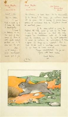 Lot 535-Blyton (Enid, 1897-1968). Autograph Letter, Signed, 1934