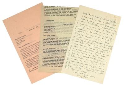 Lot 536-Blyton (Enid, 1897-1968). Autograph Letter, Signed, 1947